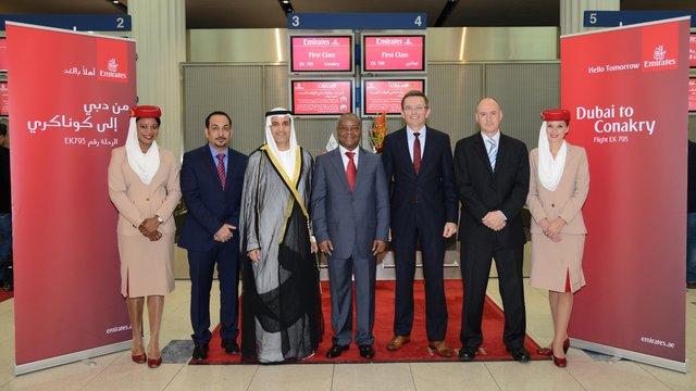 Emirates wylądowały w Gwinei